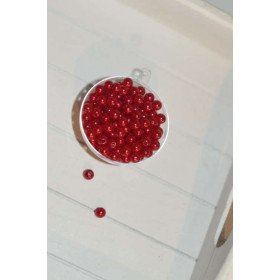 perles décoration de table rouge (sachet de 100)