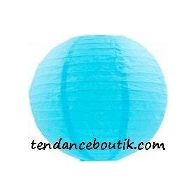 Boule Lampion papier bleu azur turquoise40cm