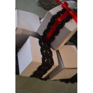 Ruban dentelle noir 2cm de large bande de 5M