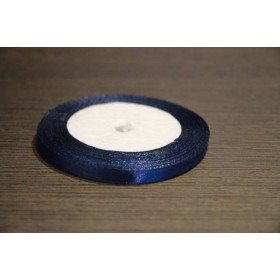 Ruban satin bleu marine 6 mm X20m