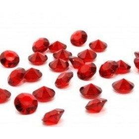 Diamant déco de table rouge 8mm (200 pcs)