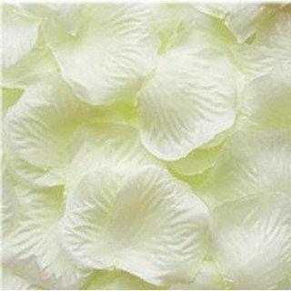 Pétales de roses artificielles ivoire (sachet de 100)
