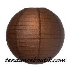 Boule Lampion papier marron 40cm