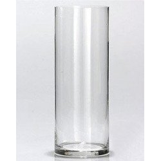 Vase en verre cylindrique