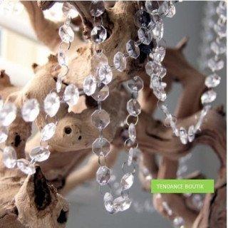 Guirlande de faux diamants cristal (le mètre)