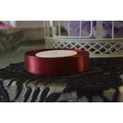 Ruban bordeaux satin 20mm