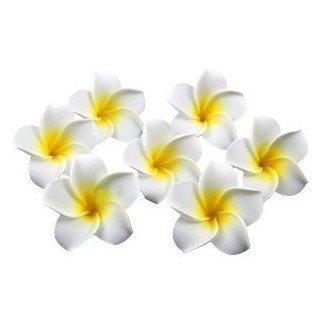 Fleur de frangipanier artificielle 4cm