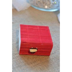 Boite dragee bambou rouge