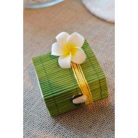 Boite dragee bambou vert