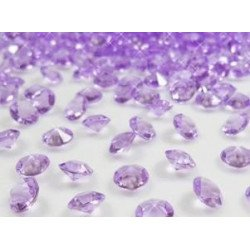 Diamant déco de table violet 8mm (200 pcs)