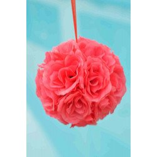 Boule de fleur artificielle mariage Corail rosé 20cm
