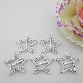 Boucle acrylique étoile (sachet de 100)