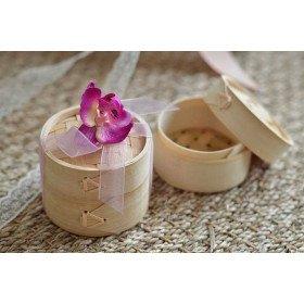 Boite dragée mini cuiseur vapeur bambou