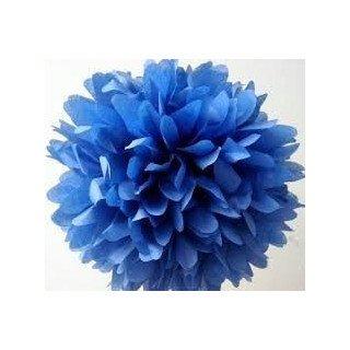 Pompons Fleurs Papier de Soie Bleu clair 20cm lot de 4
