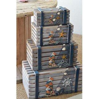 Cagette bois thème mer modèle 2