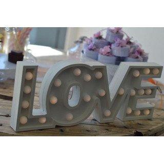 LOVE LED EN BOIS