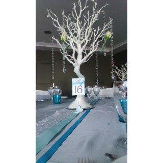 Arbre centre de table blanc-arbre à dragées
