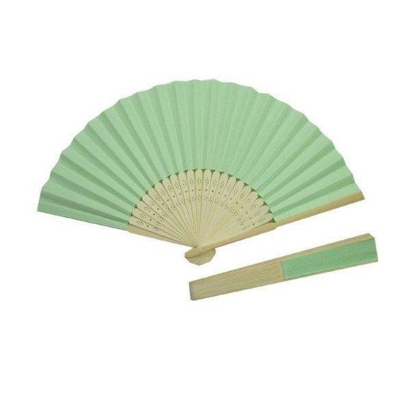 Eventail papier vert d'eau