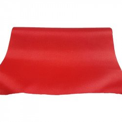 Chemin de table satin rouge
