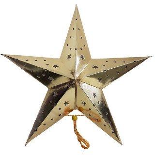 Lanterne étoile or 45cm