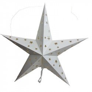 Lanterne étoile blanche 60cm