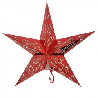 Lanterne étoile rouge 60cm