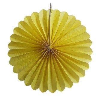 Rosace en papier jaune 30cm