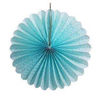 Rosace en papier bleu ciel 30cm