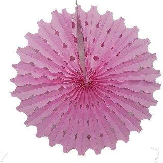 Rosace papier rose 50cm