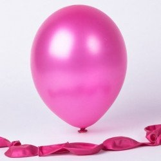Ballons nacrés fushia (sachet de 24)