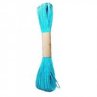 Ficelle raphia bleu turquoise