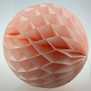 Boule alvéolée papier pêche 20cm