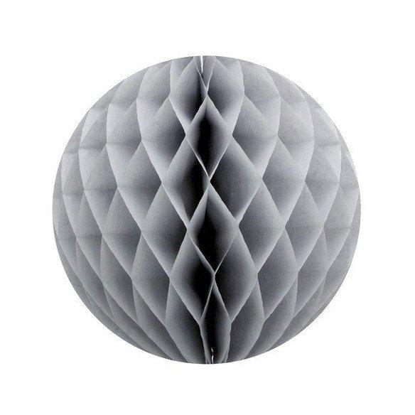 Boule alvéolée papier gris 30cm