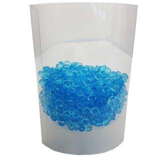 Perles de pluie bleu clair 7mm