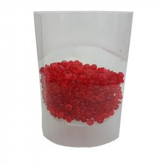 Perles de pluie rouge 7mm