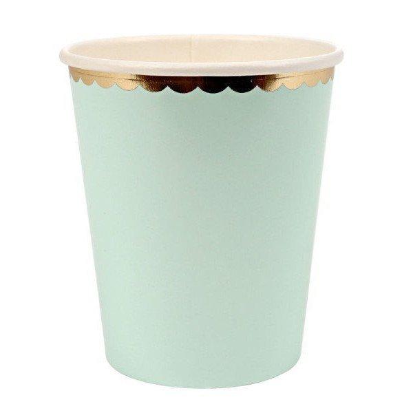 gobelet pastel vert d 39 eau pour anniversaire. Black Bedroom Furniture Sets. Home Design Ideas