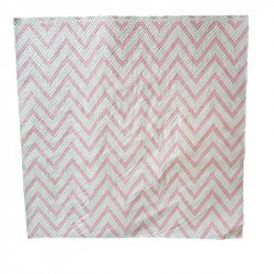 Serviette papier chevron rose x20