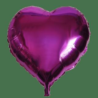 Ballon coeur fushia aluminum 45cm