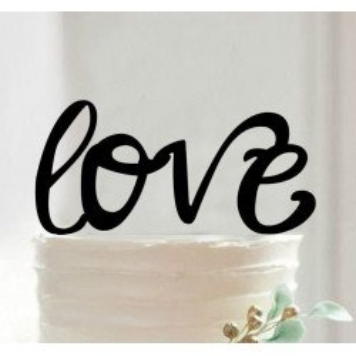 Figurine silhouette LOVE
