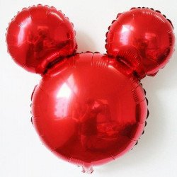 Ballon mickey rouge 45cm