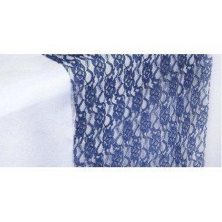 Chemin de table dentelle bleu roi