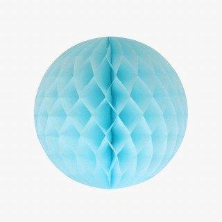 Boule alvéolée bleu ciel 20cm