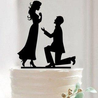 Figurine mariés romantique silhouette