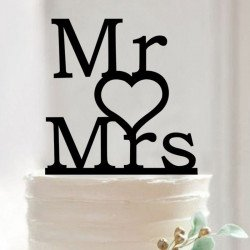 Figurine silhouette MR & MRS