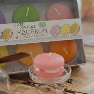 Bougie macaron (boite de 6)