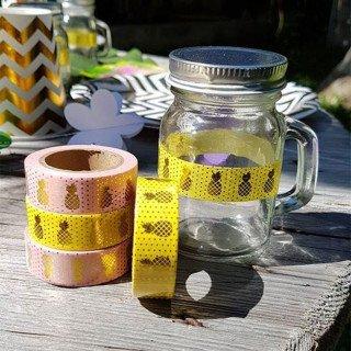 Mini mason jar dragee mariage