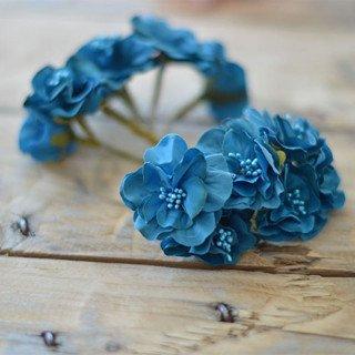 Tige fleur dragée bleu cabard