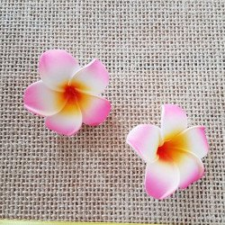 Fleur frangipannier x10 (7 couleurs)