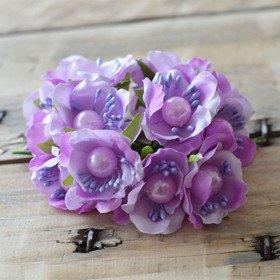 tiges fleur parme coeur perle