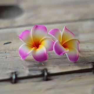 Fleur frangipannier artificielle rose fushia